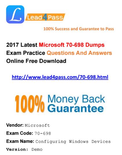 70-698 dumps