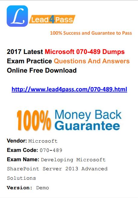 070-489 dumps