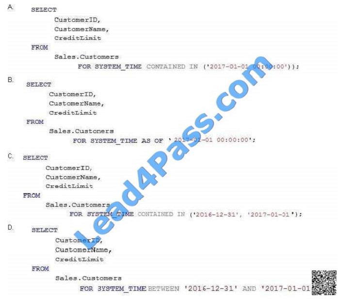 lead4pass 70-761 exam question q27-1