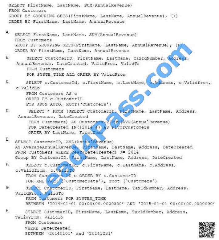 lead4pass 70-761 exam question q29-1