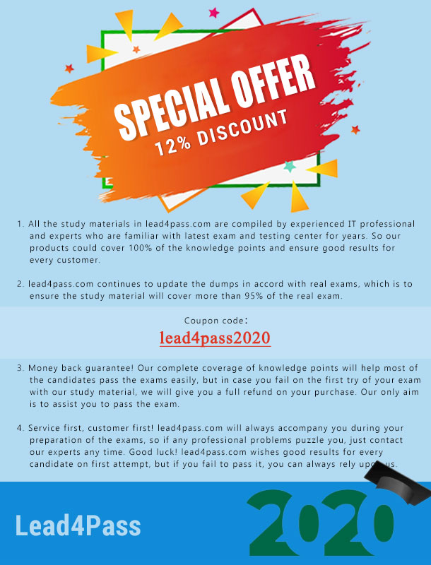 lead4pass coupon code:lead4pass2020
