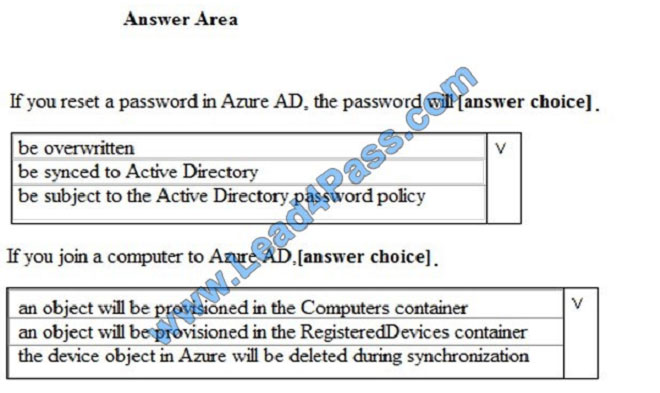 lead4pass ms-500 exam question q8-1